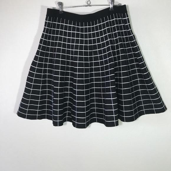 300e1ea017 Chelsea & Theodore Skirts   Chelsea Theodore Black Windowpane Knit ...